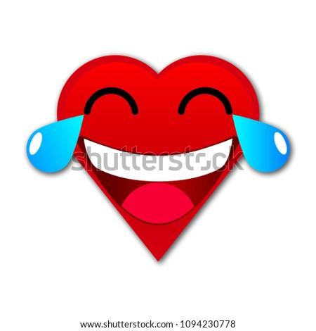 Heart Tears Joy Emoji Stock Vector Royalty Free 1094230778