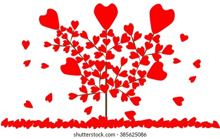 heart tree love background