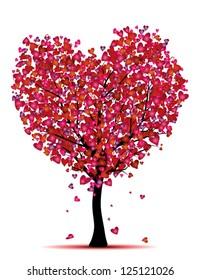 heart tree, love concept