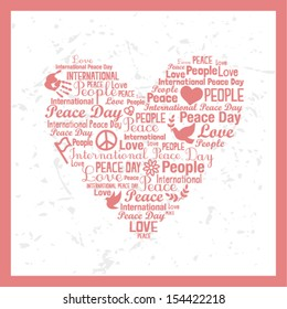 Heart typography - International Day of Peace