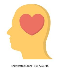 Heart under brain depicting philanthropist