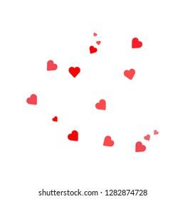 Heart. Valentine Day. Vector icon illustration Flat design