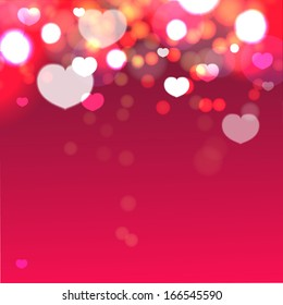 Heart valentine light vector background