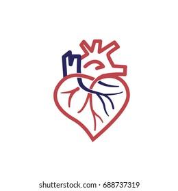 heart vascular logo
