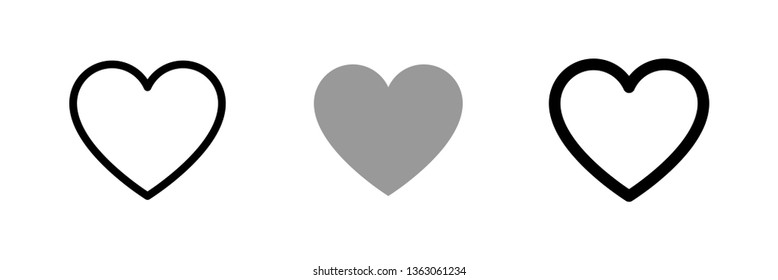 Heart vector collection. Love symbol icon set.