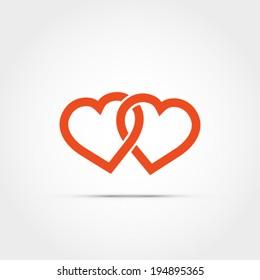 Heart vector design symbol