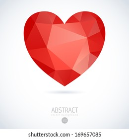 heart vector geometric mosaic heart template for valentines day design heart happy love vacation ritual star isolated abstract holiday background scene edge digital modern sign smiling art concept dec