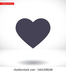heart Vector icon . Lorem Ipsum Illustration design