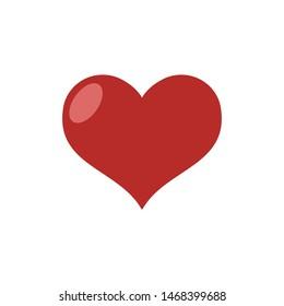 Heart vector icon, symbol of love