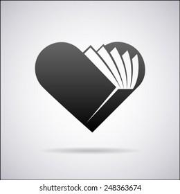 Heart vector logo design template