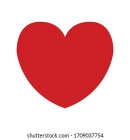 Icono de forma vector del corazón. Símbolo rojo de amor.