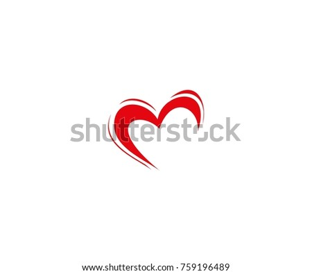 Heart Vector Symbol Valentines Day Ribbon Stock Vector Royalty Free