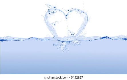 heart water - love - vector
