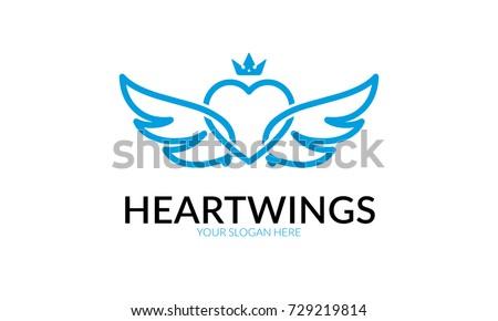 ae26e2d20691 Стоковая векторная графика «Heart Wing Logo» (без лицензионных ...