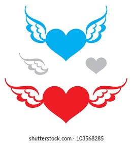 Heart and Wings flying symbol of love freedom feeling faith