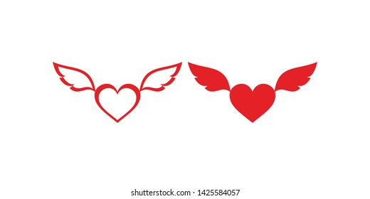 Heart with Wings Images, Stock Photos & Vectors | Shutterstock
