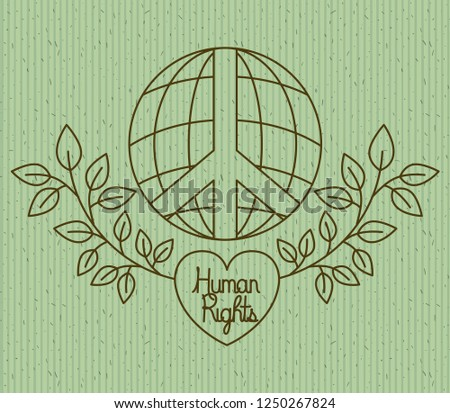 Heart Wreath Human Rights Drawns Stock Vector Royalty Free