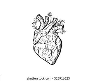 I heart you / I love you / scary black and white heart