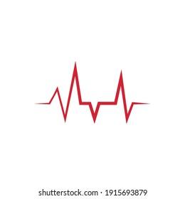Heartbeat Cardiogram Icon Vector illustration design