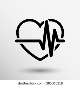 Heartbeat Echocardiography Cardiac exam Form of heart and heartbeat.