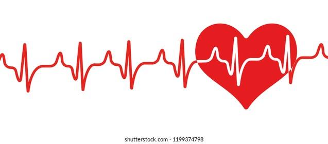 heartbeat in flat style