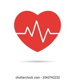 Heartbeat. Heart beat pulse icon. Heart Rate