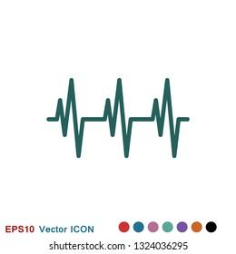 Heartbeat icon logo, illustration, vector sign symbol for design