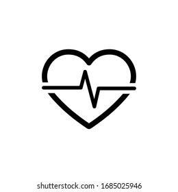 Heartbeat Icon In Trendy  Design Vector Eps 10