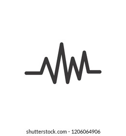 heartbeat icon,cardiogram vector,pulse sign isolated on white background,rhythm illustration