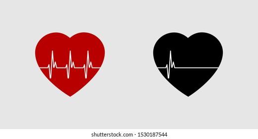 Black Heartbeat Images Stock Photos Vectors Shutterstock