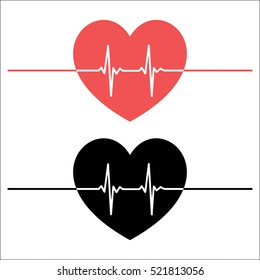Heartbeat line heart pulse
