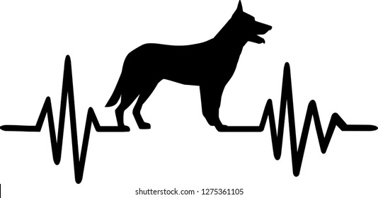 German Shepherd Silhouette Images Stock Photos Vectors Shutterstock Vector illustration of german shepherds silhouette. https www shutterstock com image vector heartbeat pulse german shepherd silhouette 1275361105