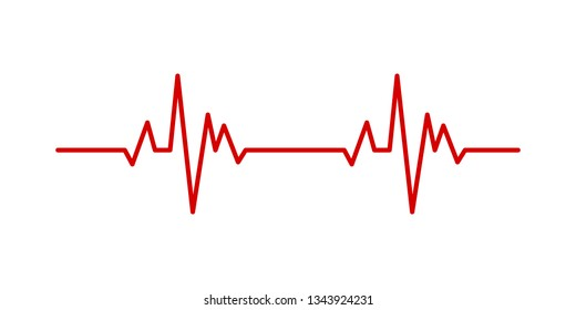 Heartbeat pulse line vector  health medical concept for graphic design, logo, web site, social media, mobile app, ui illustration