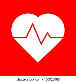 Heartbeat sign illustration
