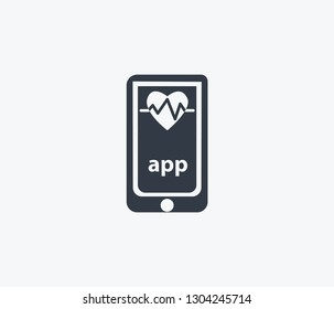 Heartbeat tracker app icon isolated on clean background. Heartbeat tracker app icon concept drawing icon in modern style. Vector illustration for your web mobile logo app UI design.