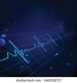 heartbeat vector background high quality