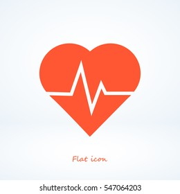heartbeat vector icon, vector best flat icon, EPS