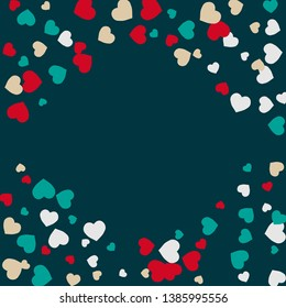 Hearts Background. Love style. Confetti texture. Romantic print.