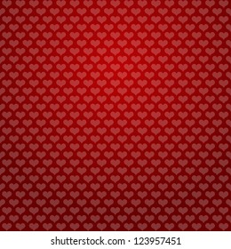 hearts background red