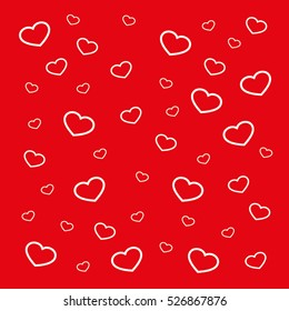 Hearts background vector illustration eps10. Isolated badge for website or app - stock infographics