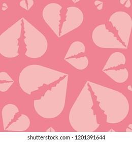 hearts break pattern background