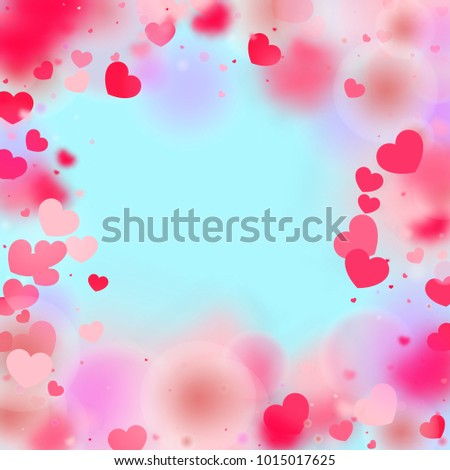 Hearts Confetti Background St Valentines Day Stock Vector Royalty