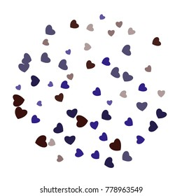 Hearts Confetti, bright colorful background, cute and fun decoration. Vector illustration for celebration, party, carnival, festive holiday and Your project.