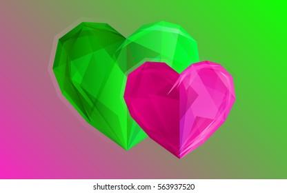 Hearts. Crystal.