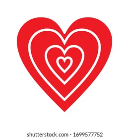 Hearts doodles. Symbol of love. Vector illustration.