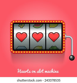 Hearts on slot machine