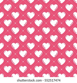 Hearts pattern. Valentines day background vector illustration, image. Creative, luxury gradient style. Print card, cloth, clothing, wrap, wrapper, web, cover, label, gift, banner, greeting, invitation