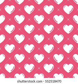 Hearts pattern. Valentines day background vector image illustration. Creative, luxury gradient style. Print card, cloth, clothing, wrap, wrapper, web, cover, gift, banner, poster, greeting, invitation