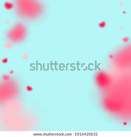 Hearts Random Background St Valentines Day Stock Vector Royalty
