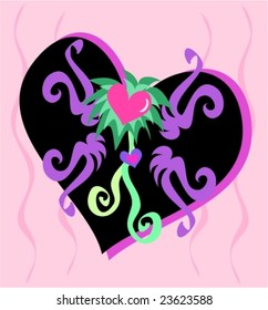 Hearts and Ribbon Design Vector for that someone special